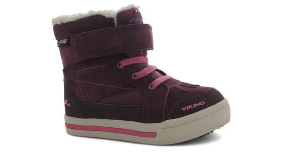 Viking Folda GTX Shoes Kids Aubergine/Dark Pink